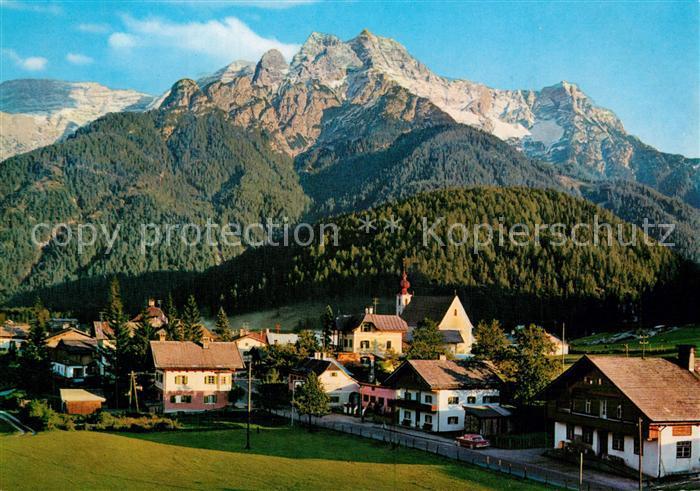 AK / Ansichtskarte Waidring_Tirol mit Loferer Steinberge Waidring Tirol 0
