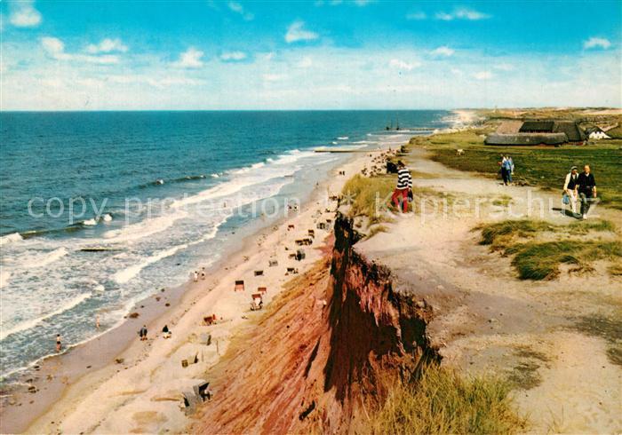 AK / Ansichtskarte Insel_Sylt Rotes Kliff und Sturmhaube Insel_Sylt 0