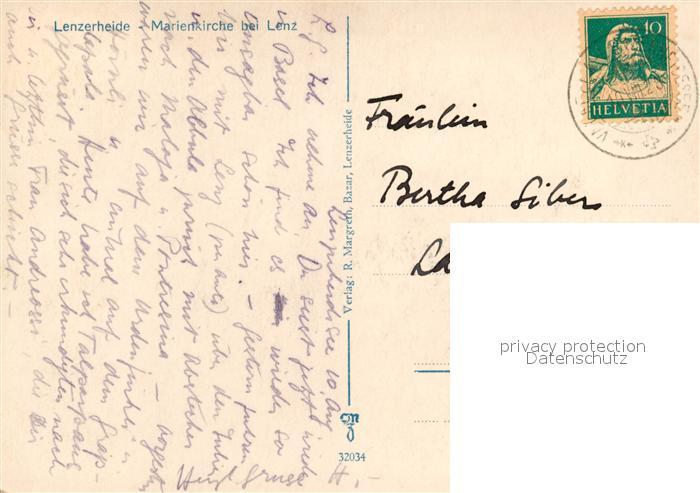 AK / Ansichtskarte Lenzerheide_GR Marienkirche bei Lenz Lenzerheide GR 1