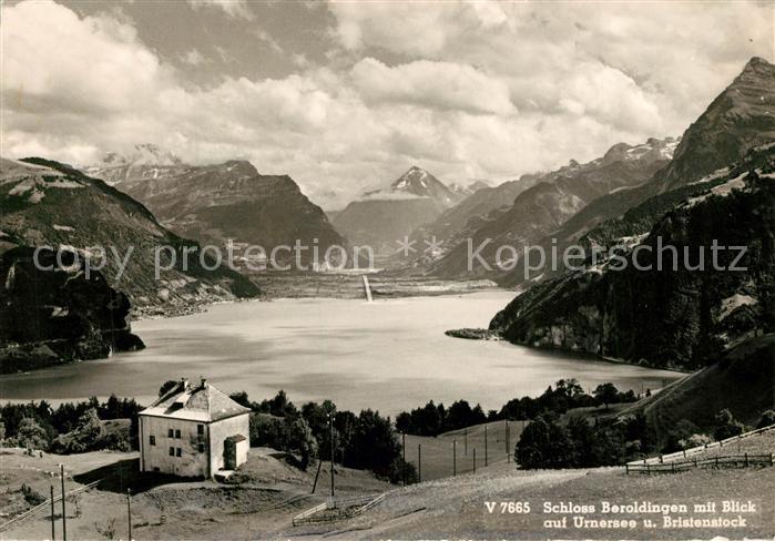 AK / Ansichtskarte Urnersee Blick von Schloss Beroldingen Bristenstock  Urnersee 0
