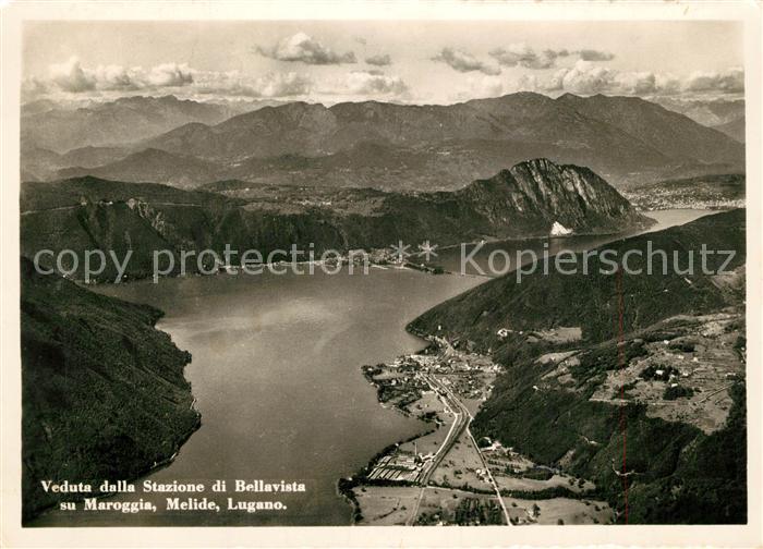 AK / Ansichtskarte Maroggia Veduta della Stazione di Bellavista su Melide Lugano Maroggia 0