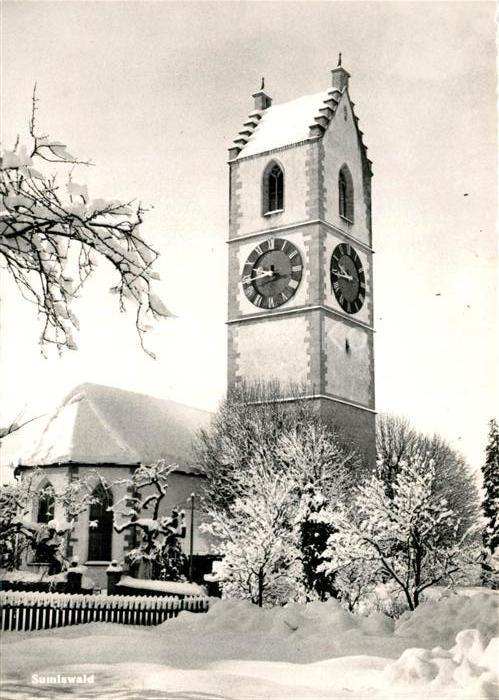 AK / Ansichtskarte Sumiswald Kirche im Winter Sumiswald 0