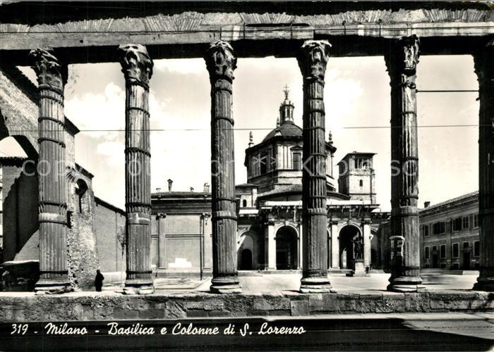 AK / Ansichtskarte Milano Basilica e Colonne di S. Lorenzo Milano 0