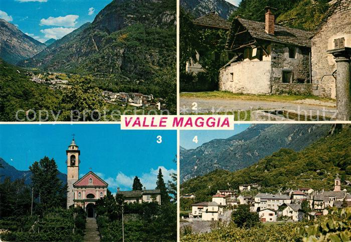 AK / Ansichtskarte Valle_Maggia Fliegeraufnahme Cevio Bignasco Maggia Ginmaglio Valle_Maggia 0