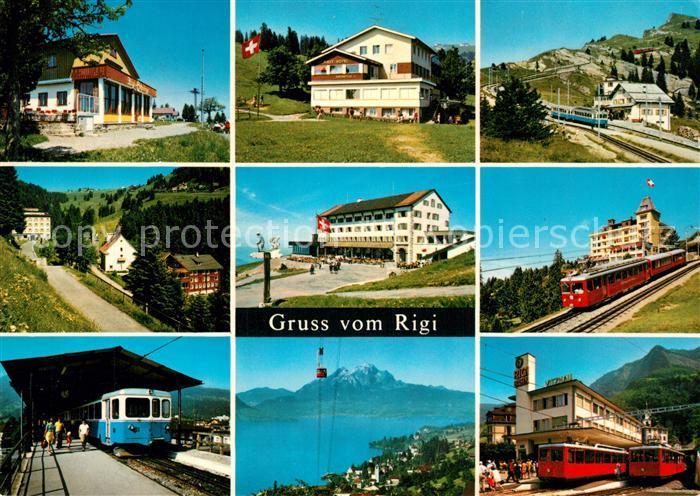AK / Ansichtskarte Rigi_Hochflue Bahnstrecke Scheidegg First Staffel Kloesterli Kulm Kaltbad Arth Goldau Weggis Vitznau Rigi Hochflue 0
