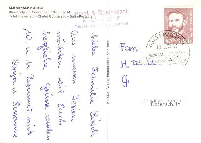 AK / Ansichtskarte Klewenalp Fliegeraufnahme Hotels ob Beckenried Chalet Guggeregg Klewenalp 1