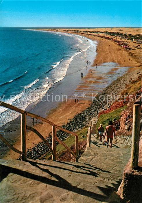 AK / Ansichtskarte Playa_del_Ingles_Gran_Canaria Treppe zum Strand Playa_del 0