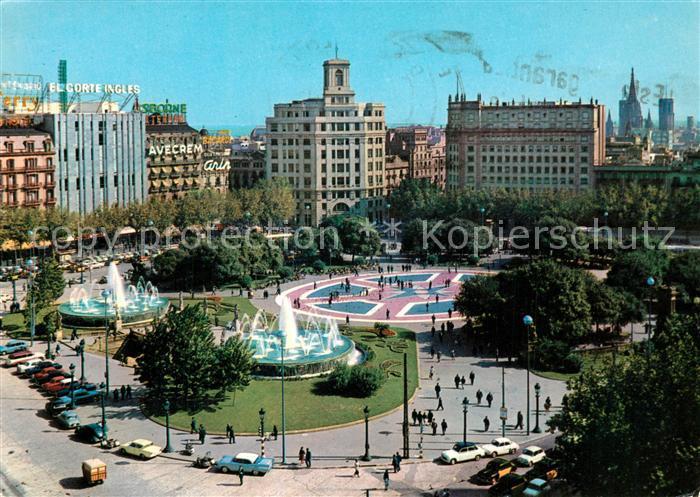 AK / Ansichtskarte Barcelona_Cataluna Plaza de Cataluna Barcelona Cataluna 0