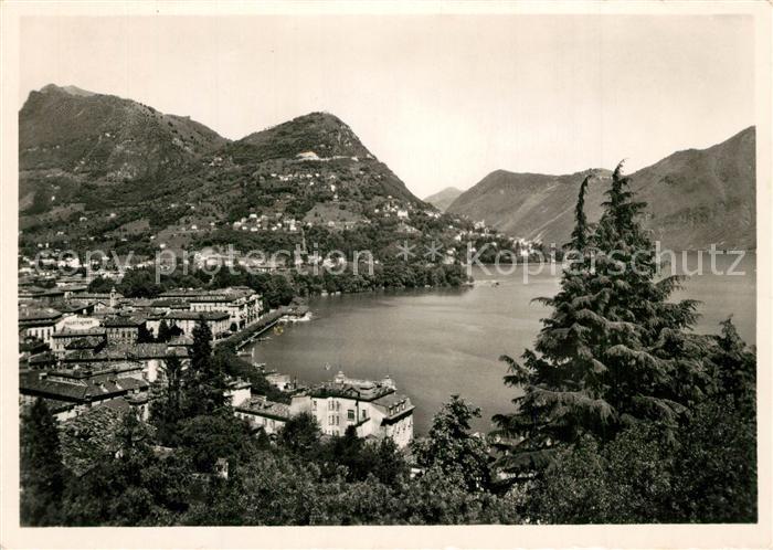 AK / Ansichtskarte Lugano_TI Seepartie Lugano_TI 0