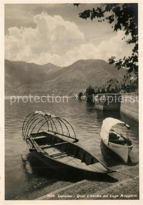 AK / Ansichtskarte Locarno_TI Quai e Barche del Lago Maggiore Locarno_TI 0