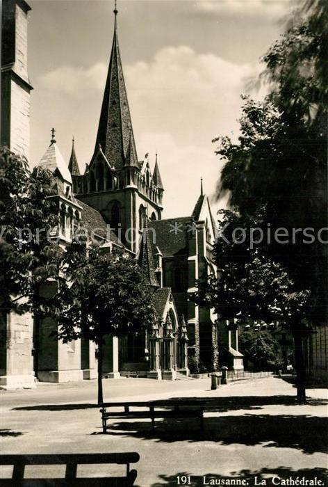 AK / Ansichtskarte Lausanne_VD Cathedrale Lausanne VD 0