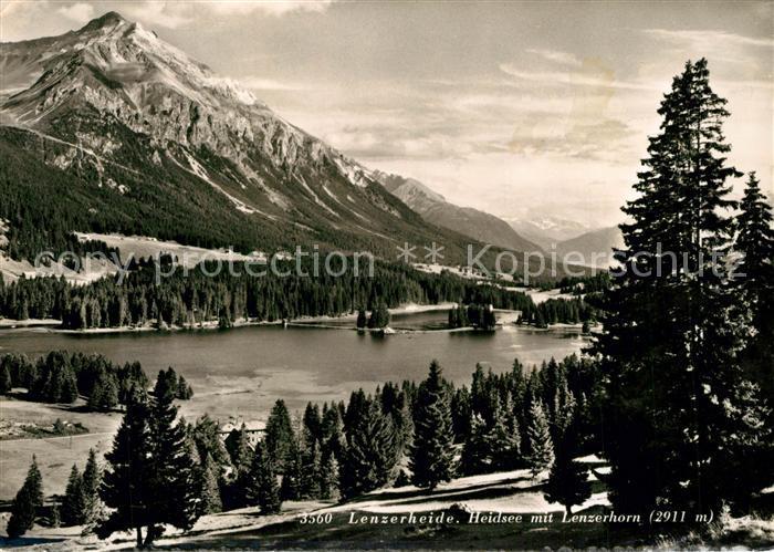 AK / Ansichtskarte Lenzerheide_GR Heidsee mit Lenzerhorn Lenzerheide GR 0