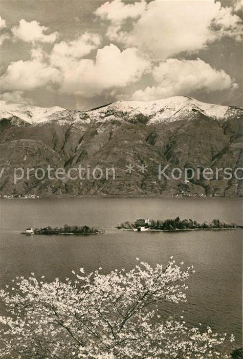 AK / Ansichtskarte Lago_Maggiore mit Inseln Lago Maggiore 0