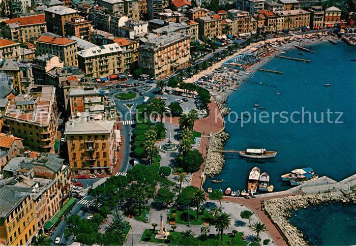AK / Ansichtskarte S_Margherita_Ligure Fliegeraufnahme Strand Hafen S_Margherita_Ligure 0