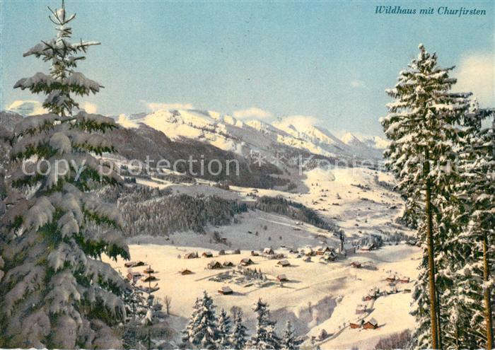AK / Ansichtskarte Wildhaus_SG mit Churfirsten Wildhaus SG 0