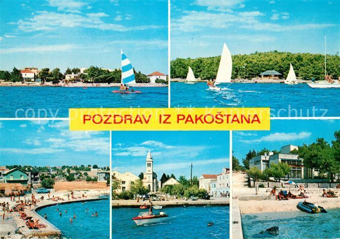 AK / Ansichtskarte Pakostane Strand Segelboote Pakostane 0