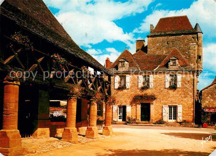 AK / Ansichtskarte Domme Les Anciennes Halles et Maison du Gouverneur Domme 0