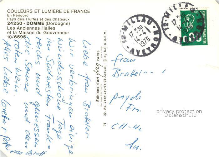 AK / Ansichtskarte Domme Les Anciennes Halles et Maison du Gouverneur Domme 1