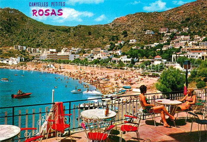 AK / Ansichtskarte Rosas_Costa_Brava_Cataluna Canyelles Petites Strand Rosas_Costa 0