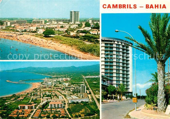 AK / Ansichtskarte Cambrils Fliegeraufnahme mit Strand Bahia Cambrils