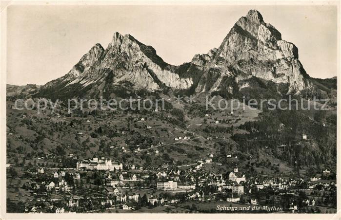 AK / Ansichtskarte Schwyz und die Mythen Schwyz 0
