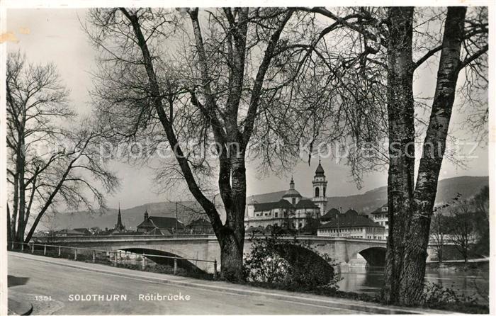 AK / Ansichtskarte Solothurn Roetibruecke Solothurn 0