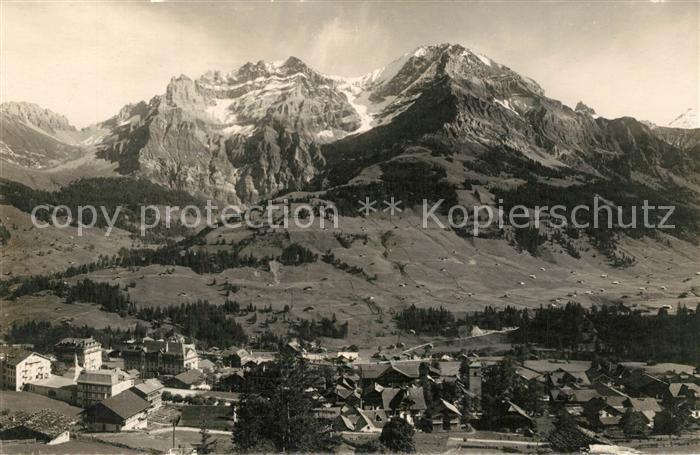 AK / Ansichtskarte Adelboden mit Kleinlonner Grosslonner Tschingelhorn Adelboden 0