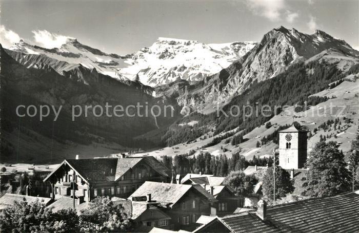 AK / Ansichtskarte Adelboden mit Tierhoernli Steghorn Wildstrubel und Fitzer Adelboden 0