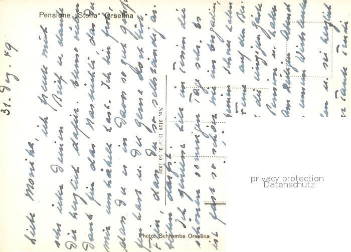 AK / Ansichtskarte Orselina_Locarno_Lago_Maggiore Pensione Stella Orselina_Locarno 1