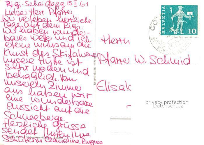 AK / Ansichtskarte Rigi_Scheidegg Jugendherberge Rigi Huesli Rigi Scheidegg 1
