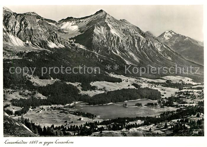 AK / Ansichtskarte Lenzerheide_GR Lenzerheidsee mit Lenzerhorn Lenzerheide GR 0
