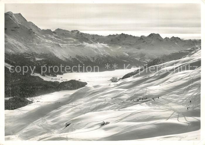 AK / Ansichtskarte St_Moritz_GR mit Piz Corvatsch und Piz La Margna St_Moritz_GR 0