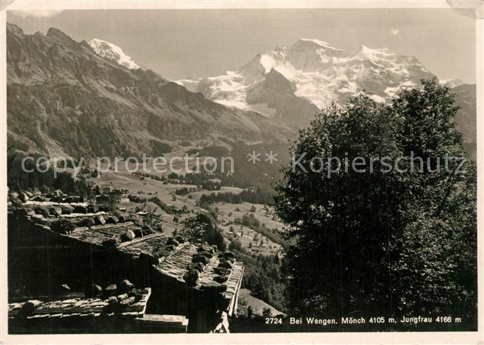 AK / Ansichtskarte Wengen_BE mit Moenchund Jungfrau Wengen_BE 0