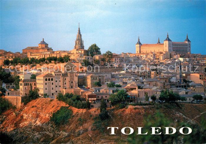 AK / Ansichtskarte Toledo_Castilla La_Mancha Vista parcial Catedral y Alcazar Toledo_Castilla La_Mancha 0