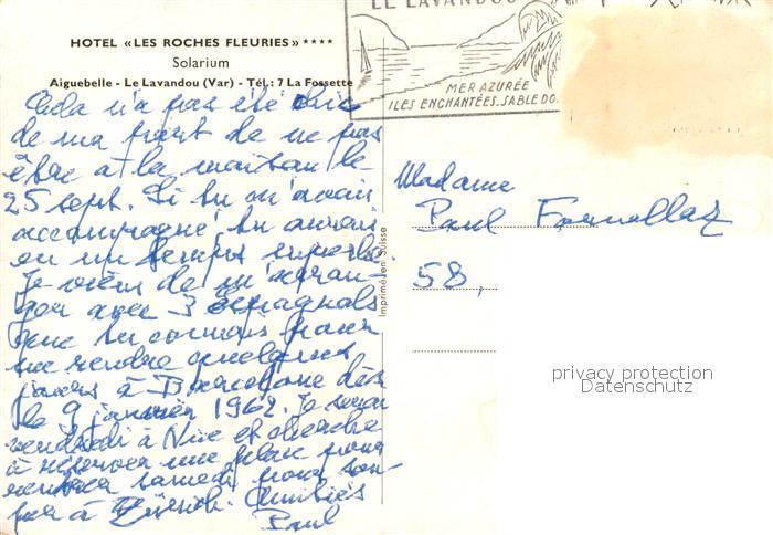AK / Ansichtskarte Le_Lavandou Hotel Les Roches Fleuries Solarium Le_Lavandou 1