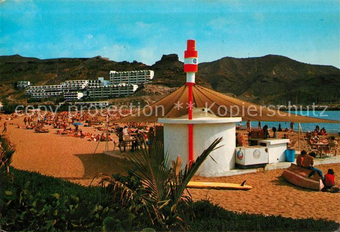 AK / Ansichtskarte Puerto_Rico_Gran_Canaria Strandpartie Puerto_Rico_Gran_Canaria 0