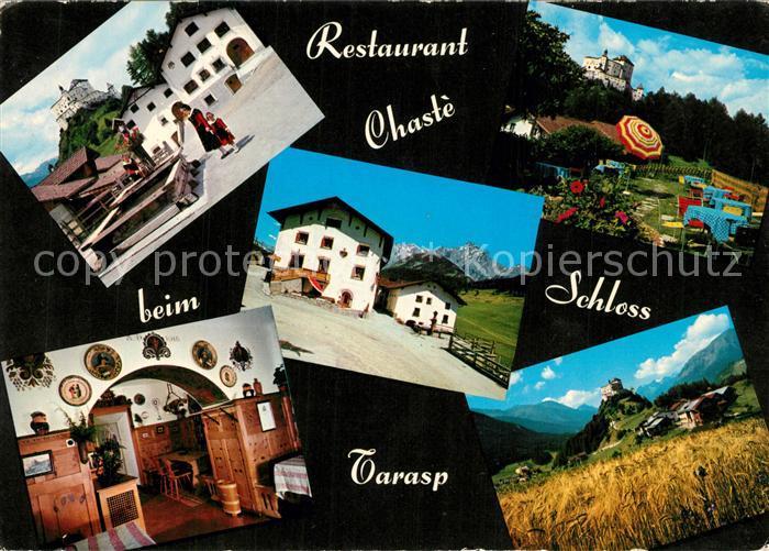 AK / Ansichtskarte Tarasp Restaurant Chaste Gaststube Schloss Tarasp Tarasp 0