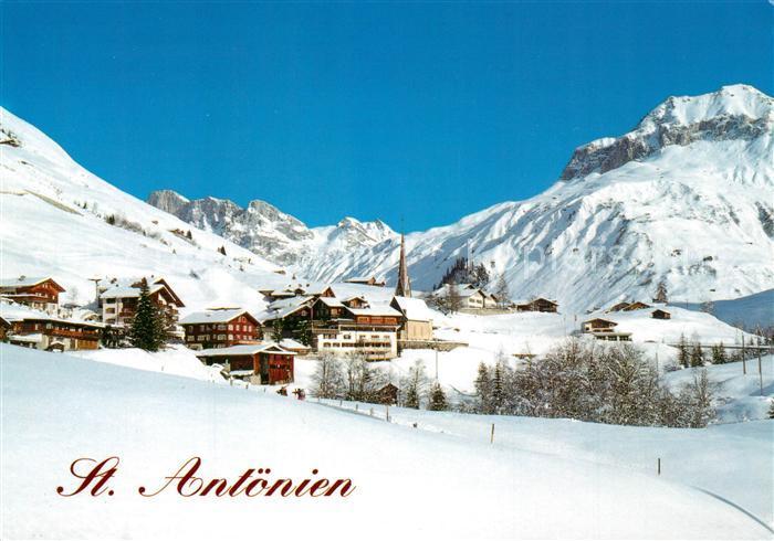 AK / Ansichtskarte St_Antoenien_GR mit Schijenflue und Schollberg St_Antoenien_GR 0