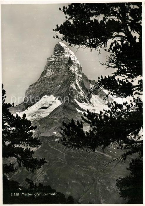 AK / Ansichtskarte Zermatt_VS Matterhorn Zermatt_VS 0