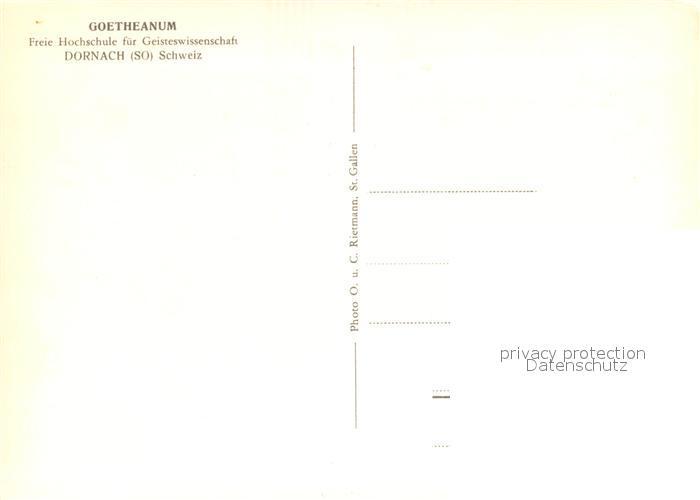 AK / Ansichtskarte Dornach_SO Goetheanum Dornach_SO 1
