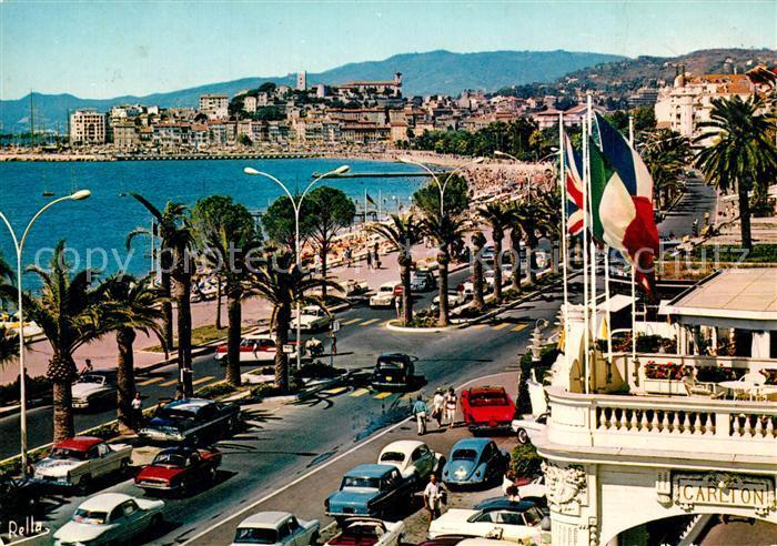 AK / Ansichtskarte Cannes_Alpes Maritimes La Croisette et le Suquet vus du Carlton Hotel et Hotel Majestic Cannes Alpes Maritimes 0