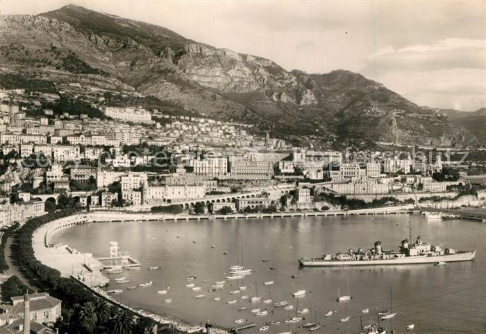 AK / Ansichtskarte Monte Carlo Vue generale et le Port Monte Carlo 0