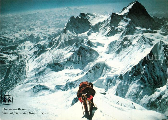 AK / Ansichtskarte Nepal Himalaya Massiv vom Gipfelgrat des Mount Everest Nepal 0