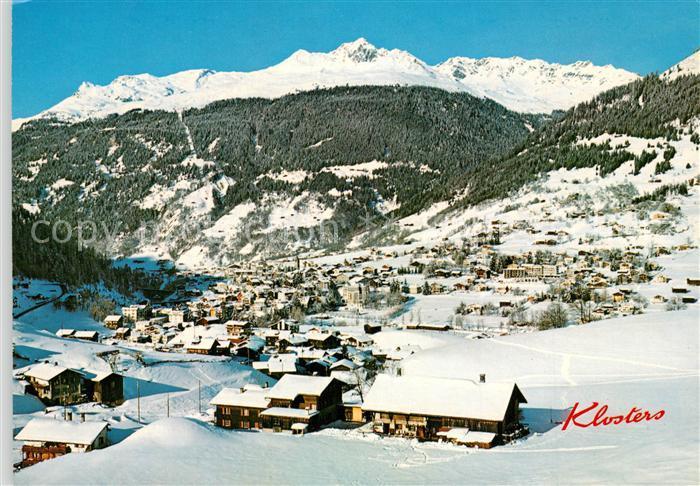 AK / Ansichtskarte Klosters_GR mit Madrisahorn Klosters_GR 0