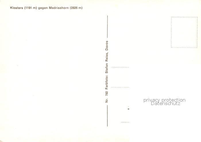 AK / Ansichtskarte Klosters_GR mit Madrisahorn Klosters_GR 1