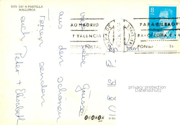 AK / Ansichtskarte Can_Pastilla_Palma_de_Mallorca Strandpartie Can_Pastilla 1