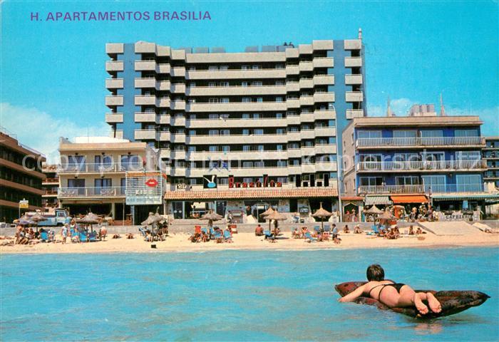 AK / Ansichtskarte Playa_de_Palma_Mallorca Apartamentos Brasilia Playa_de_Palma_Mallorca