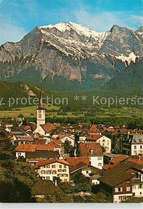AK / Ansichtskarte Bad_Ragaz mit Falknis Bad_Ragaz 0