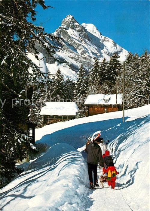 AK / Ansichtskarte Braunwald_GL Hotel Niederschlacht Winteridyll Braunwald GL 0