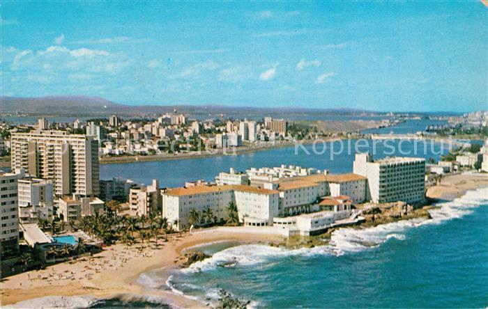 AK / Ansichtskarte San_Juan_Puerto_Rico Condado Beach Hotel aerial view San_Juan_Puerto_Rico